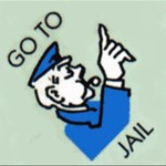 Monopoly Go To Jail game board logo